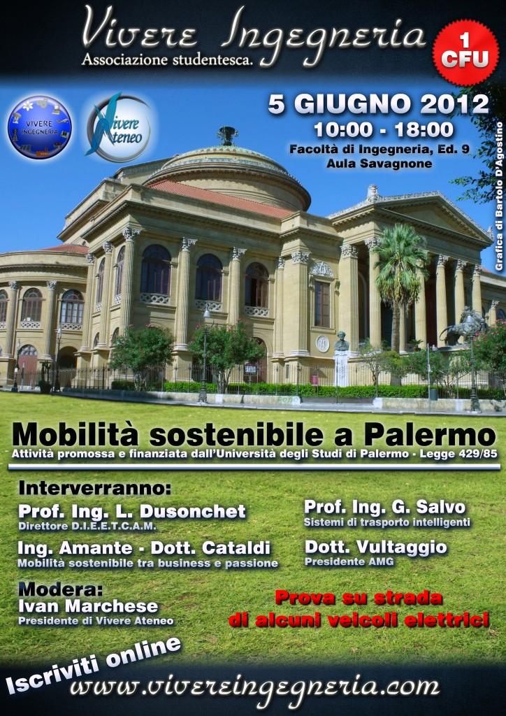 Seminario ingegneria mobilit sostenibile a palermo for Mobilita palermo