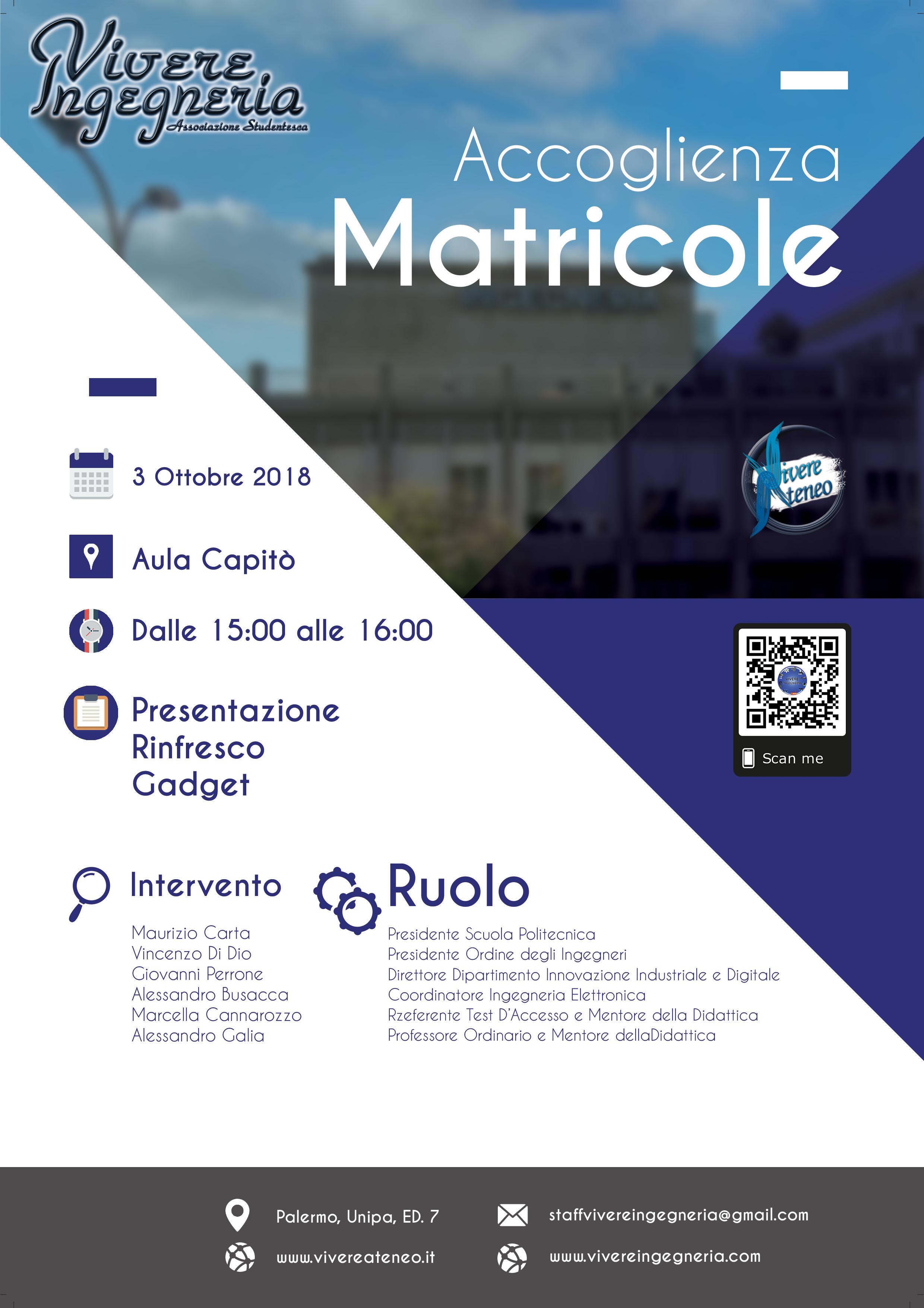Calendario Didattico Unipa Ingegneria.Accoglienza Matricole Ingegneria 2018 2019 Conferenza