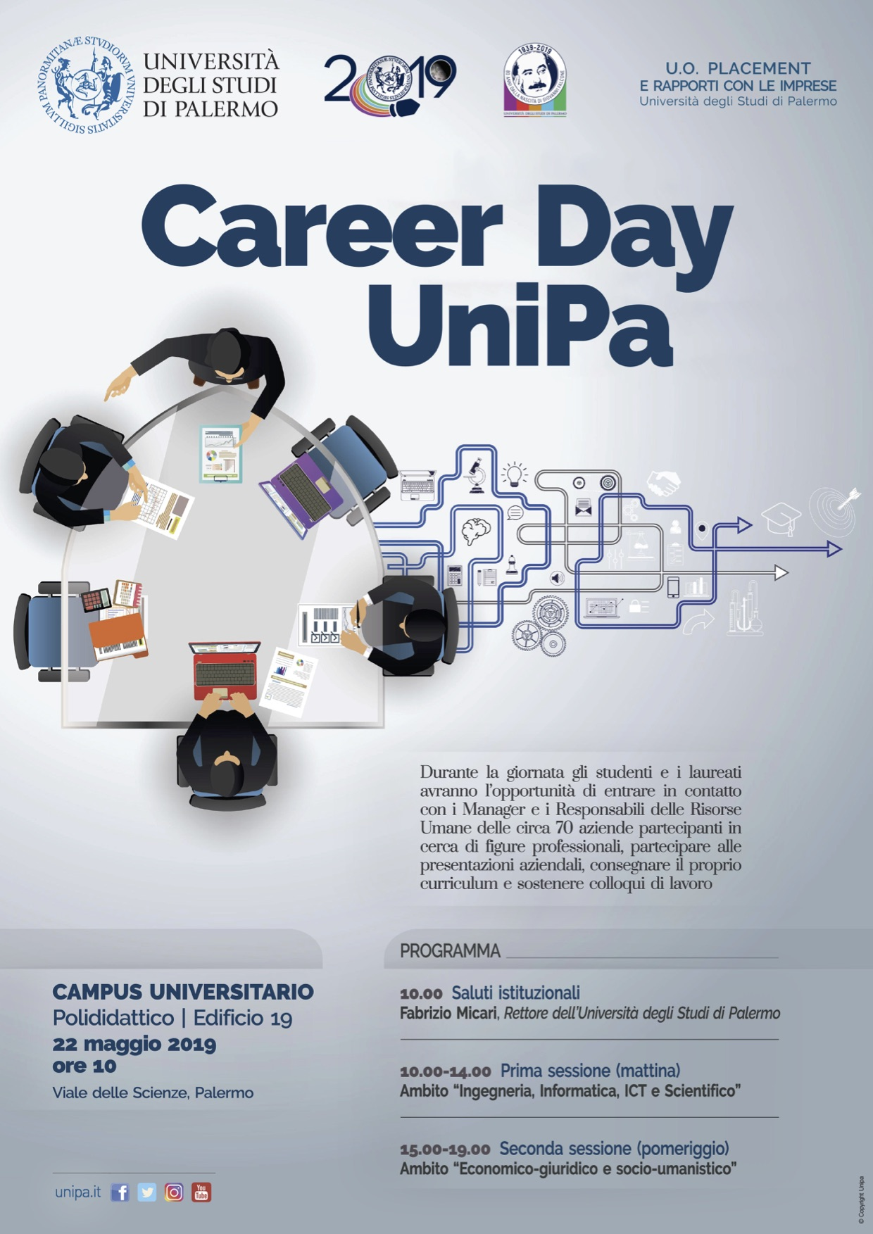 Calendario Didattico Unipa Scuola Delle Scienze Umane.Career Day 2019 Vivere Ingegneria